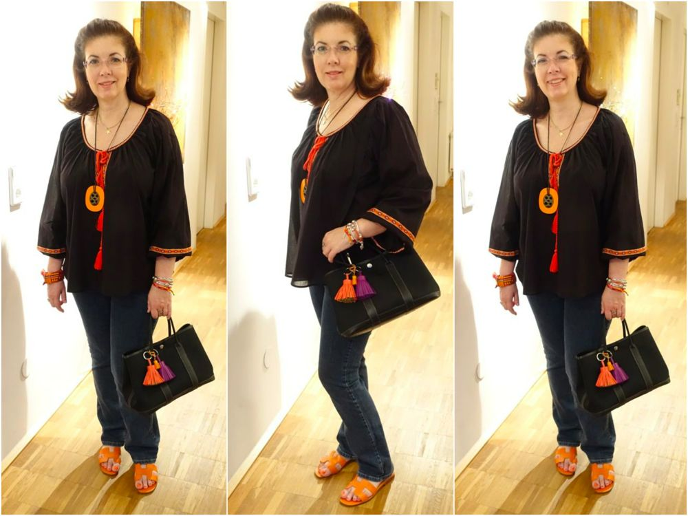 casual with slippers and tunic / lässig hit Sandaletten und Tunika