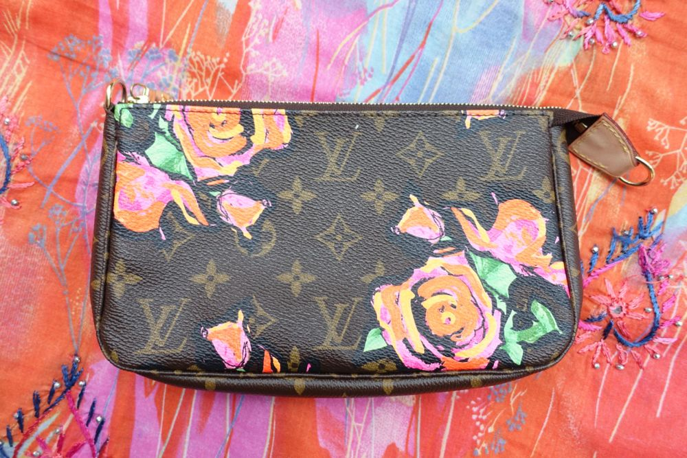 Louis Vuitton Pochette Accessoires Monogram Rose by Stephen Sprouse