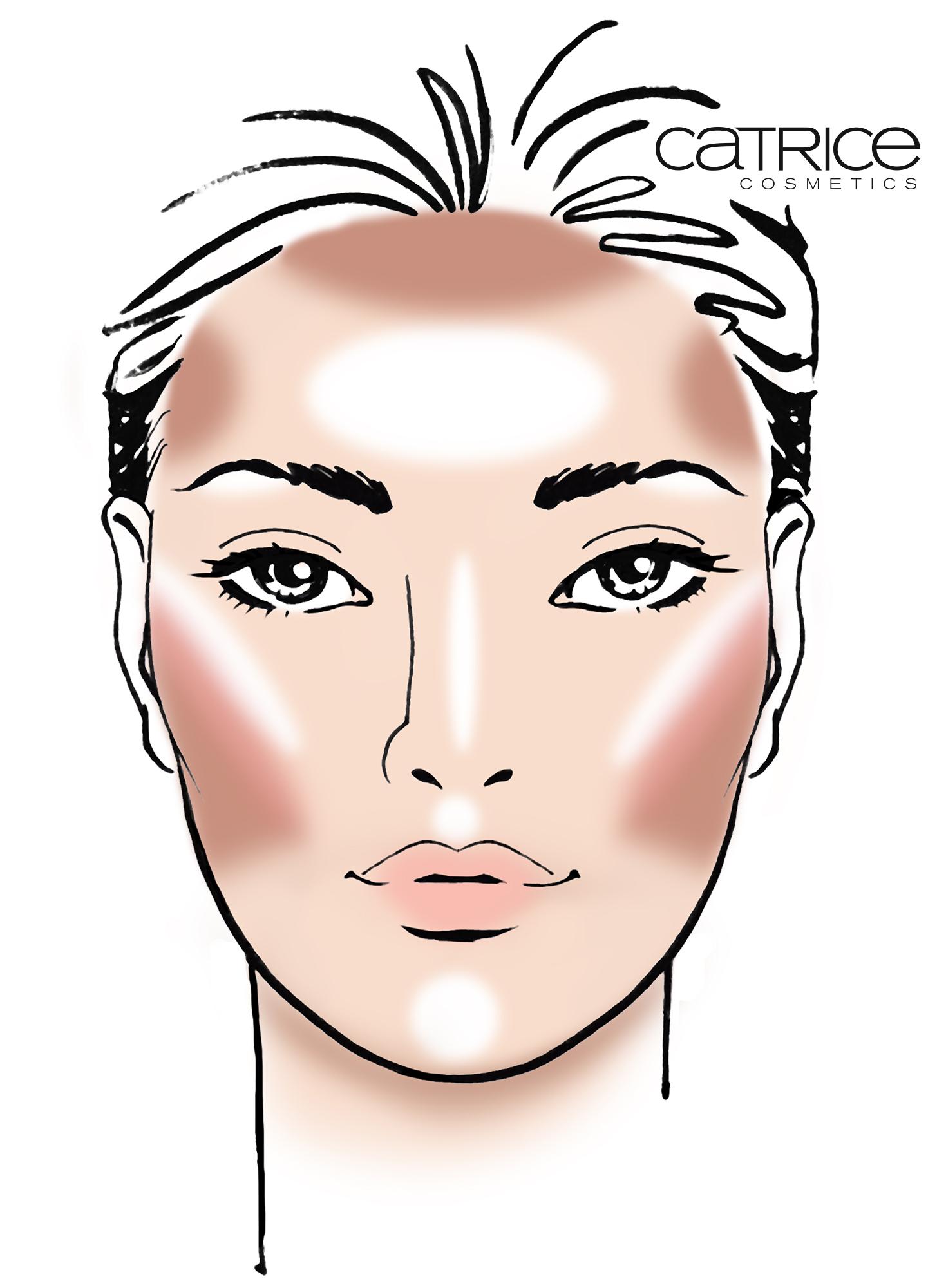 Contourieren eines OVALEN Gesichtes, inklusive Blush - © cosnova