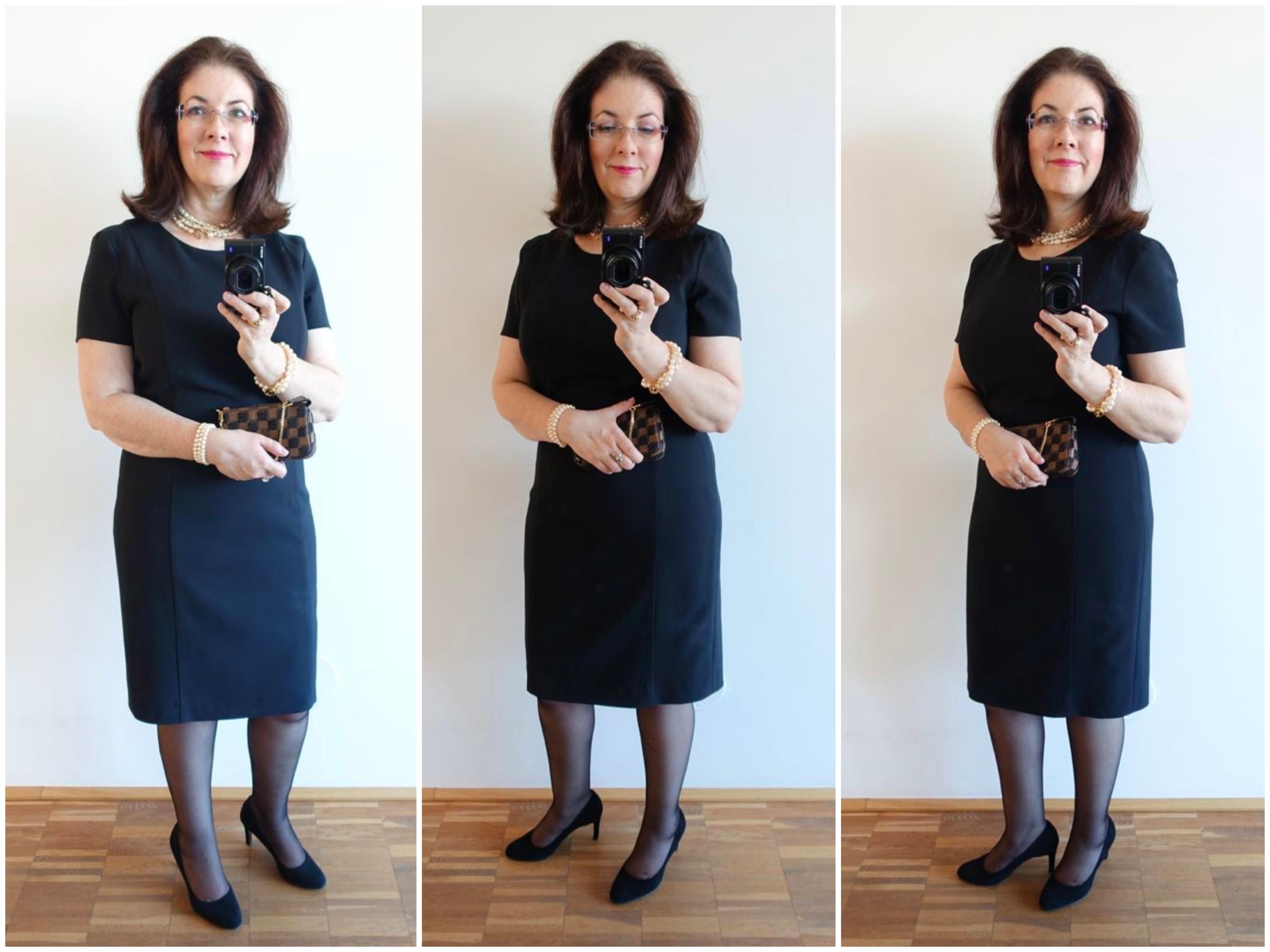 kurzärmeliges Little Black Dress / short sleeved LBD