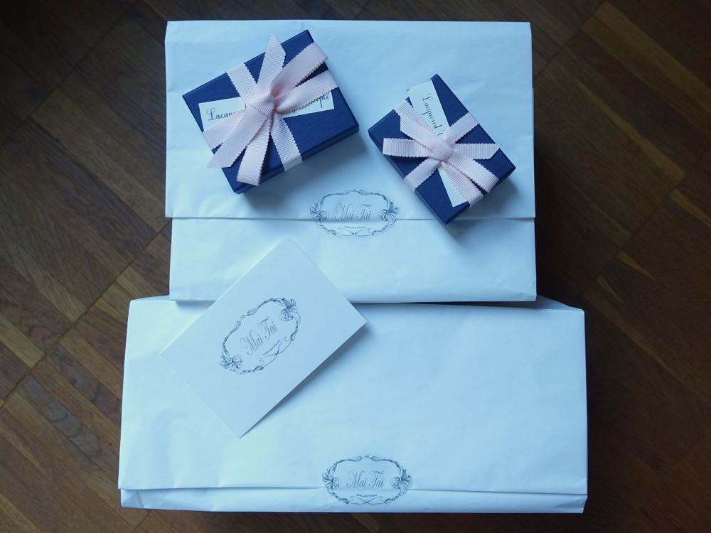 beautifully wrapped MaiTaiCollection parcels