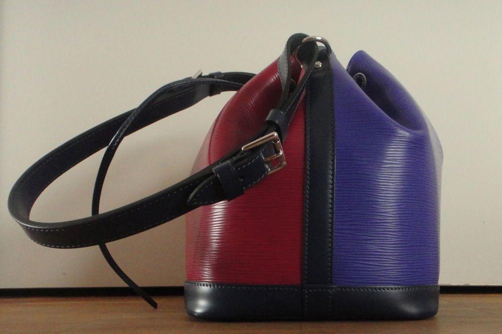 partly purple Louis Vuitton Noé bag
