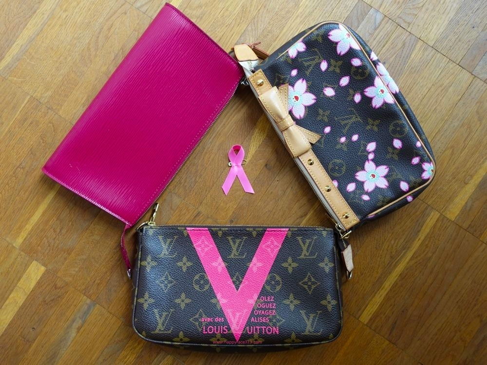 fight breast cancer! V = Victory. Or: Louis Vuitton