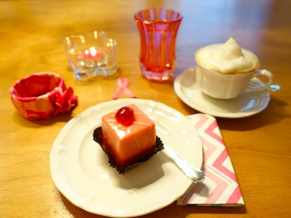 pink Austrian cake: Punschkrapfen