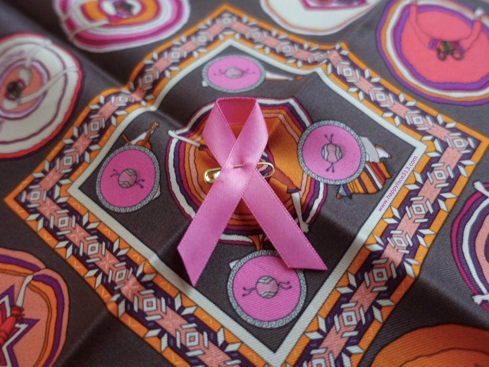 How I Wear My Neckerchief pink ribbon