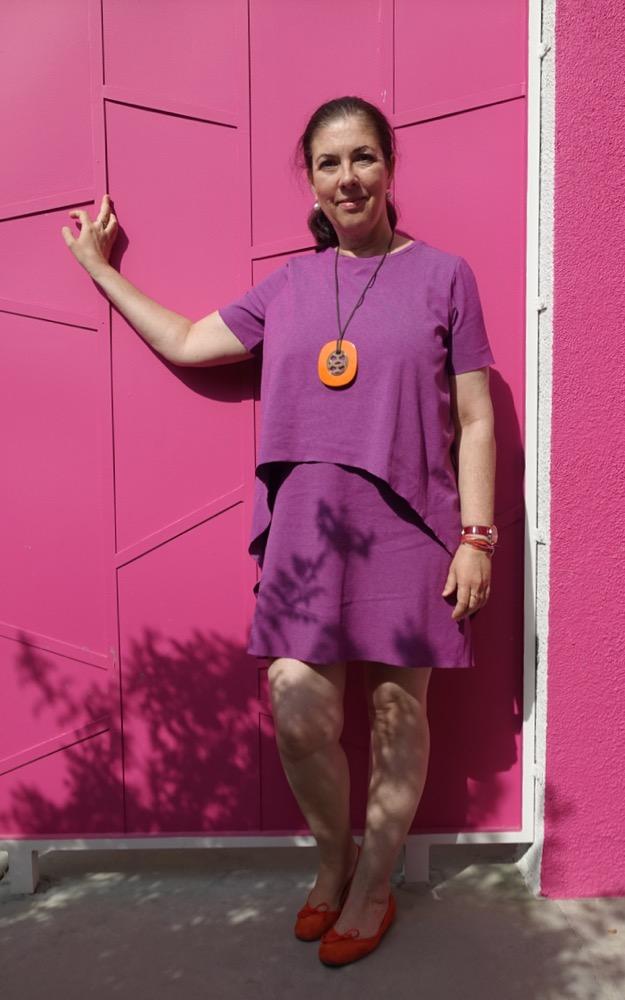 HappyFace313 purple and orange